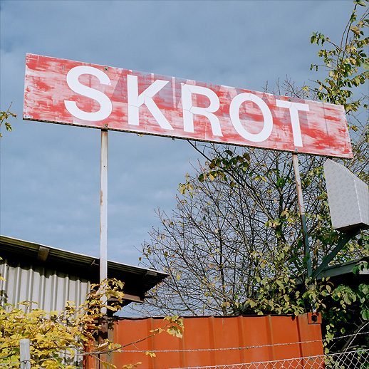 Recycled sign at Arenastaden, Solna. October 2007.