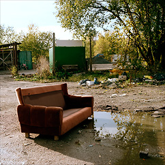 Badsofa at the Solna Badlands.