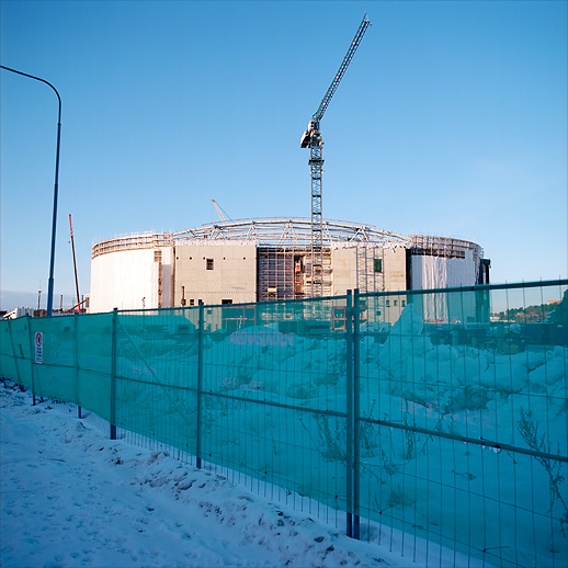 Main structure of the Friends Arena at Arenastaden, Solna. January 2011.