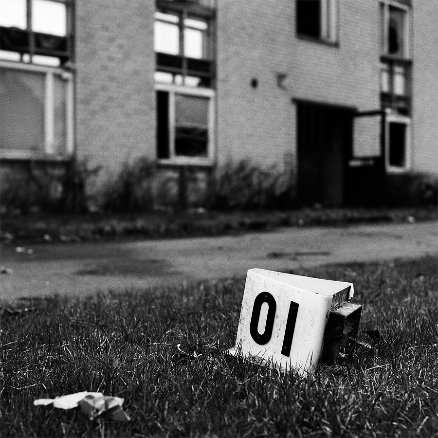 Number 10 down for a count at Borgen. Olofström, Blekinge, Sweden. May 2009.