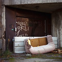 Badsofa in Solna.