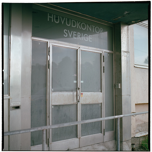 "…Head office, Sweden"". The former office of SAS's domestic branch was unused for a long time before being transformed to a hotel. Bromma airport area, Ulvsunda. July 2007."