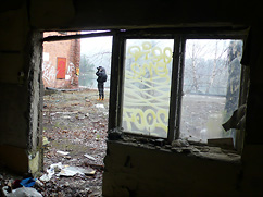 Snapping away at the (now demolished) Tollare paper mill.